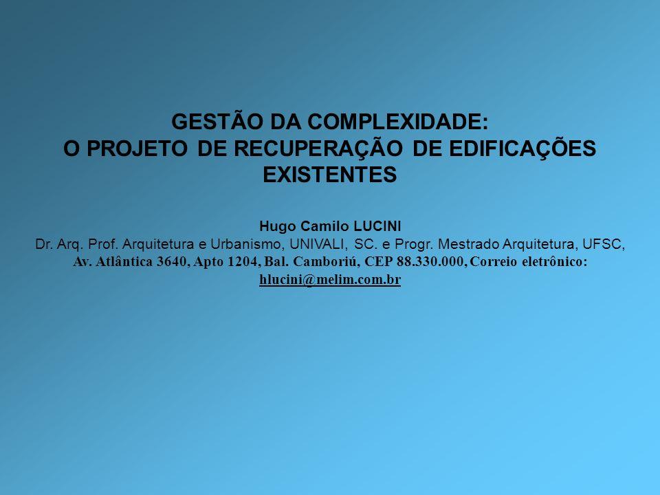 GESTÃO DA COMPLEXIDADE: