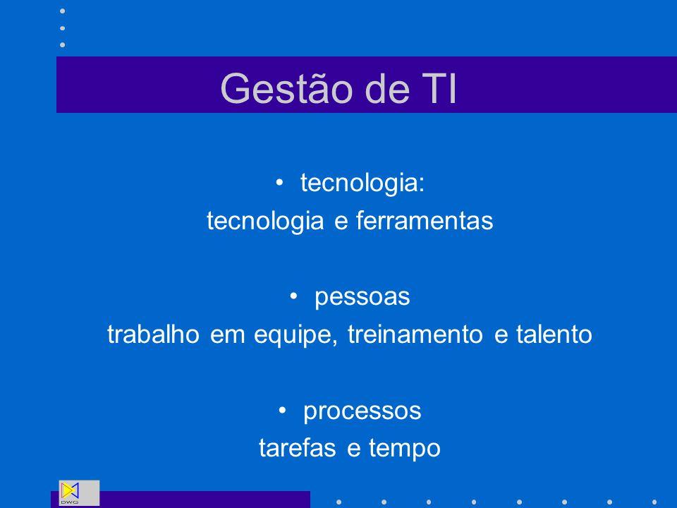 Gestão de TI tecnologia: tecnologia e ferramentas pessoas