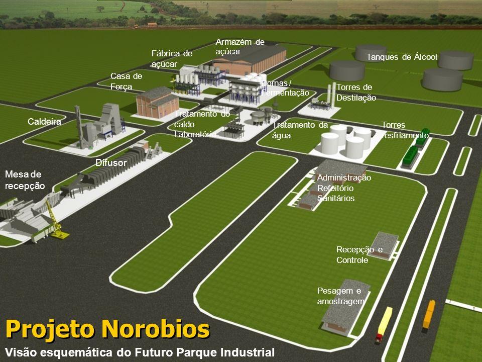 Projeto Norobios Visão esquemática do Futuro Parque Industrial Difusor