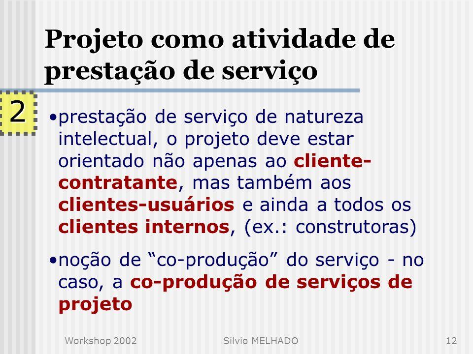 2 Projeto como atividade de prestação de serviço