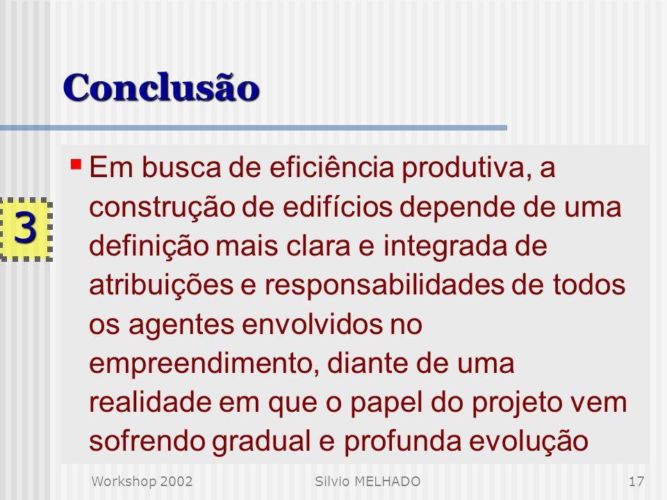 Silvio Melhado 28-30/01/02. Conclusão.