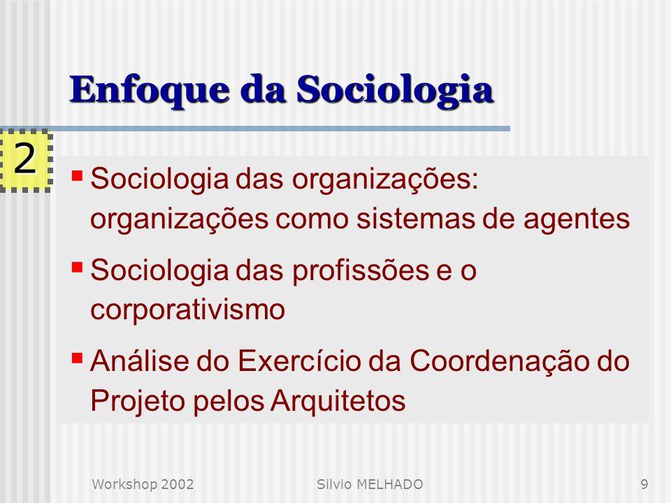 Enfoque da Sociologia 2. Sociologia das organizações: organizações como sistemas de agentes. Sociologia das profissões e o corporativismo.