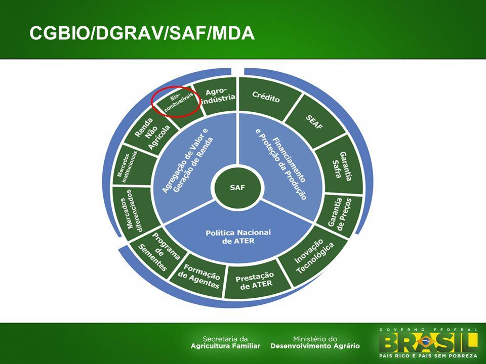 CGBIO/DGRAV/SAF/MDA Cenário e contexto das medidas