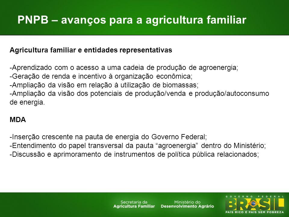 PNPB – avanços para a agricultura familiar