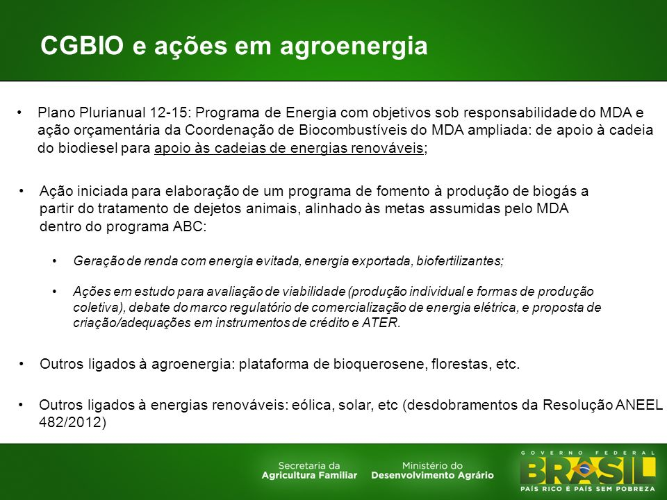 CGBIO e ações em agroenergia