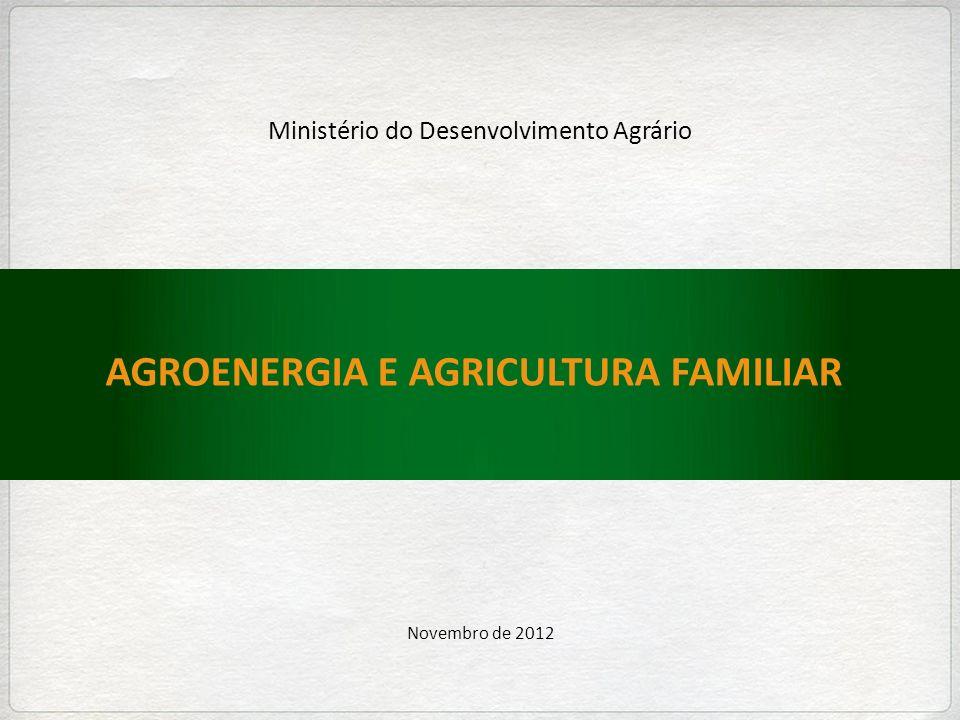 AGROENERGIA E AGRICULTURA FAMILIAR