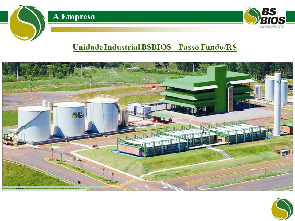 Unidade Industrial BSBIOS – Passo Fundo/RS