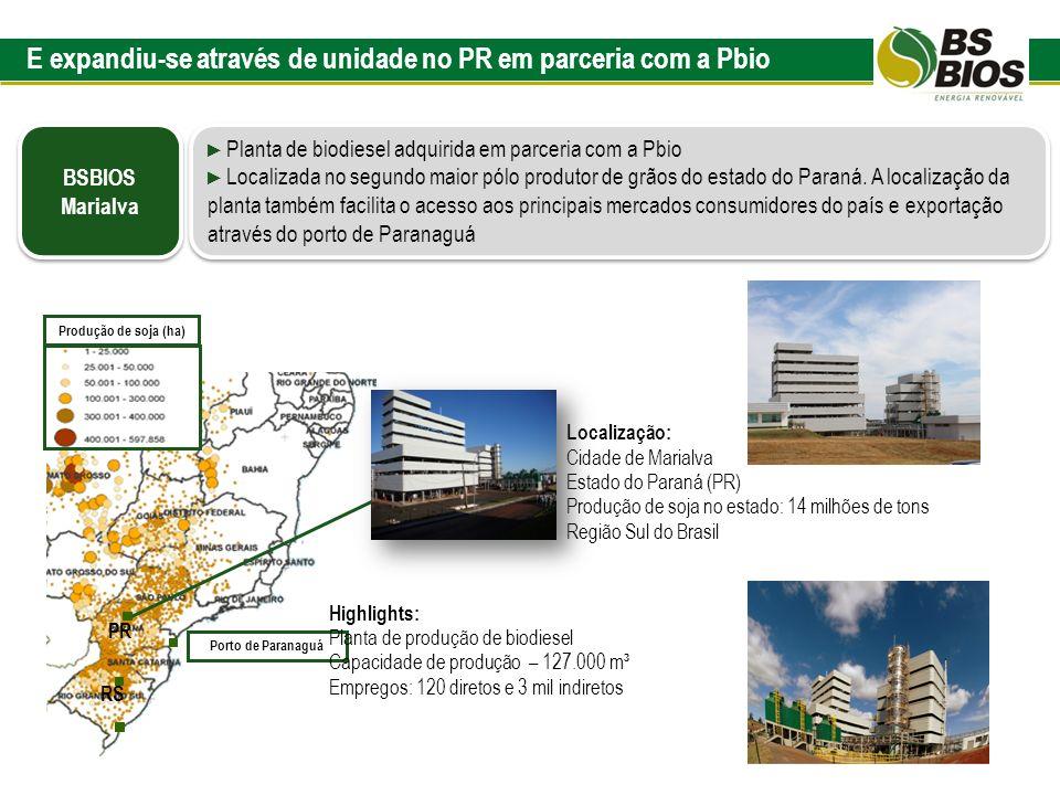 E expandiu-se através de unidade no PR em parceria com a Pbio