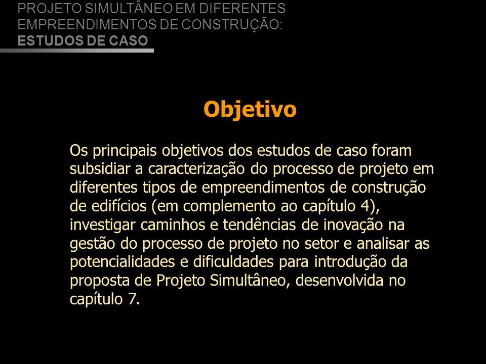 PROJETO SIMULTÂNEO EM DIFERENTES EMPREENDIMENTOS DE CONSTRUÇÃO: ESTUDOS DE CASO