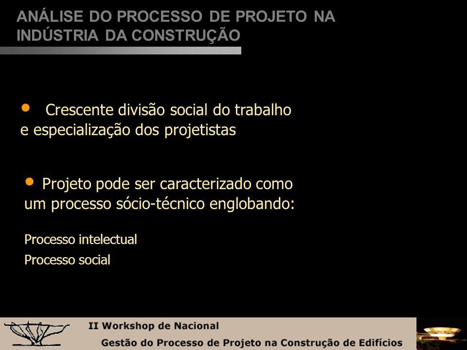 Crescente divisão social do trabalho e especialização dos projetistas