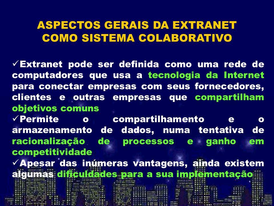 ASPECTOS GERAIS DA EXTRANET COMO SISTEMA COLABORATIVO