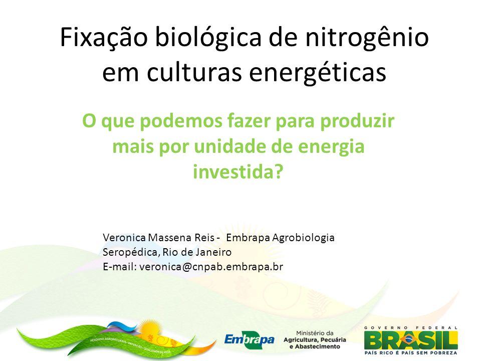 Fixação biológica de nitrogênio em culturas energéticas