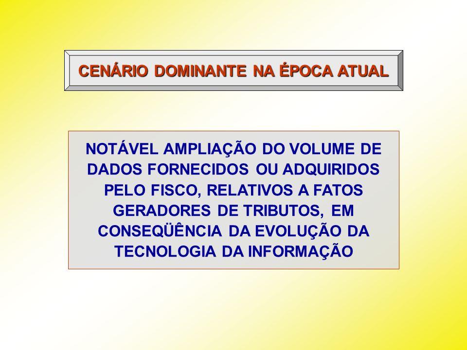 CENÁRIO DOMINANTE NA ÉPOCA ATUAL