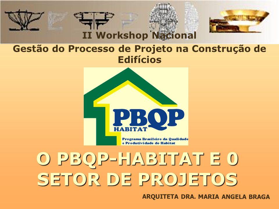 O PBQP-HABITAT E 0 SETOR DE PROJETOS