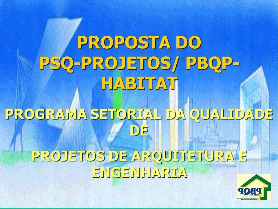 PROPOSTA DO PSQ-PROJETOS/ PBQP-HABITAT