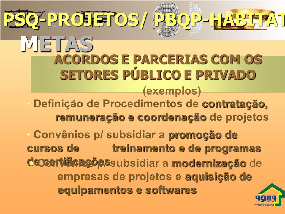 ACORDOS E PARCERIAS COM OS SETORES PÚBLICO E PRIVADO (exemplos)