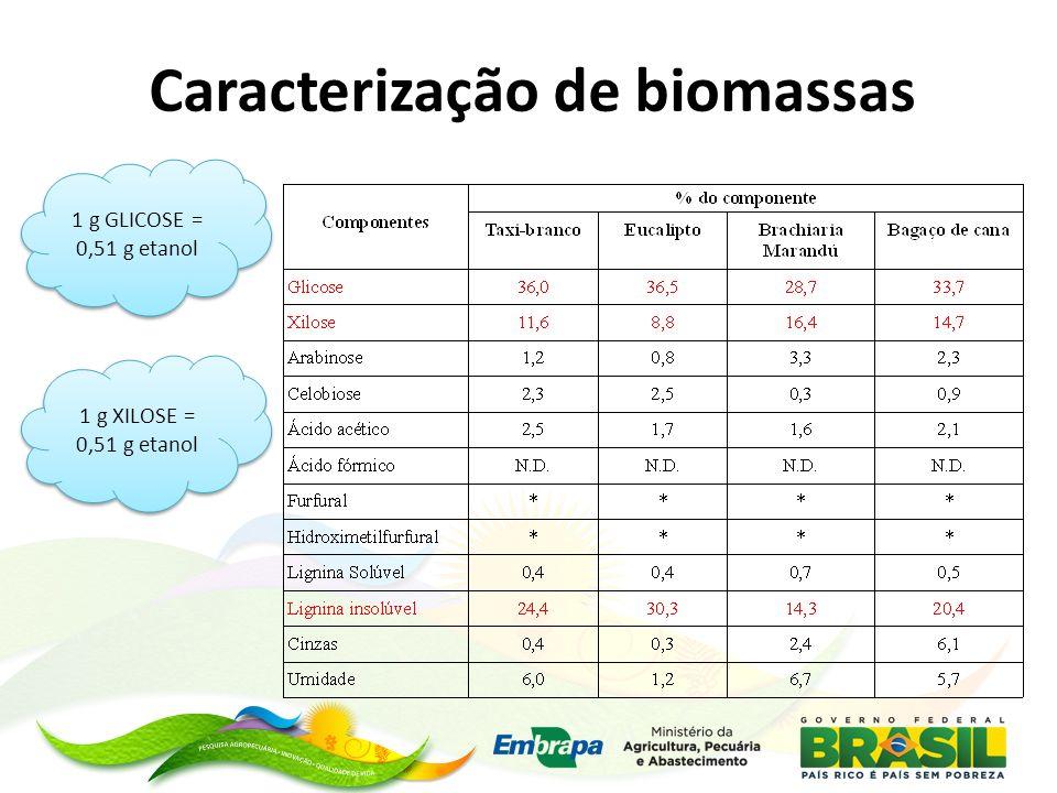 Caracterização de biomassas