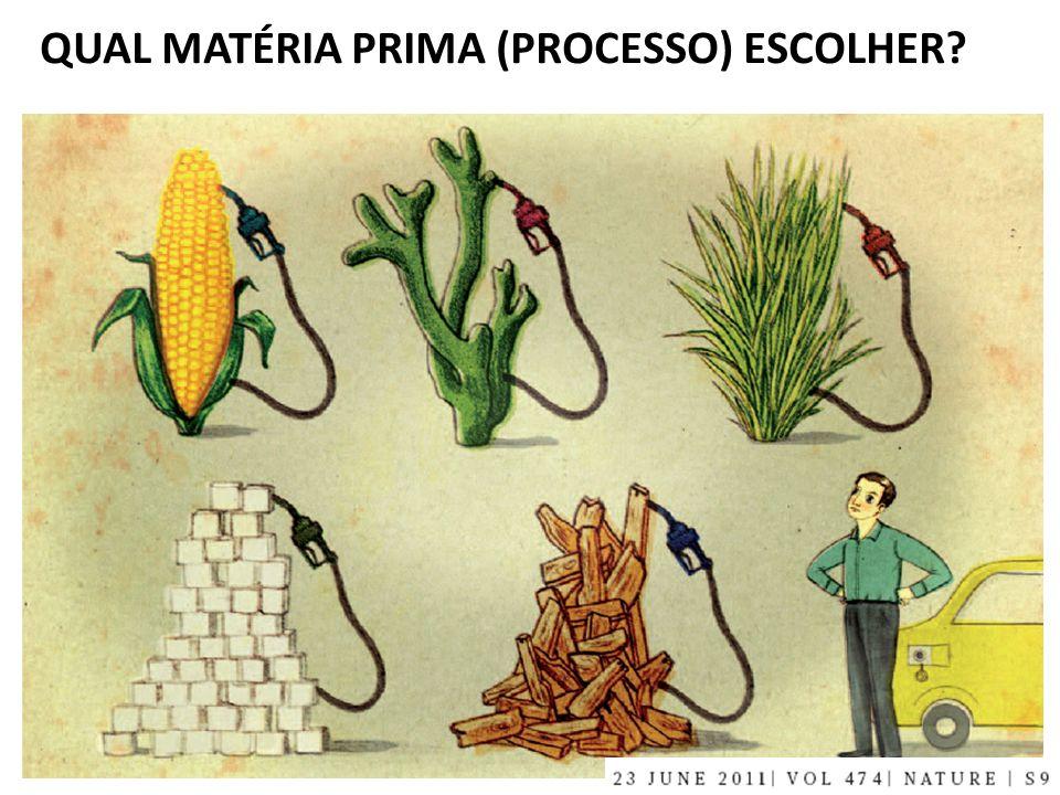 QUAL MATÉRIA PRIMA (PROCESSO) ESCOLHER