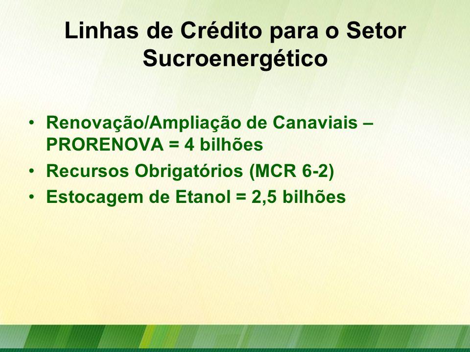Linhas de Crédito para o Setor Sucroenergético