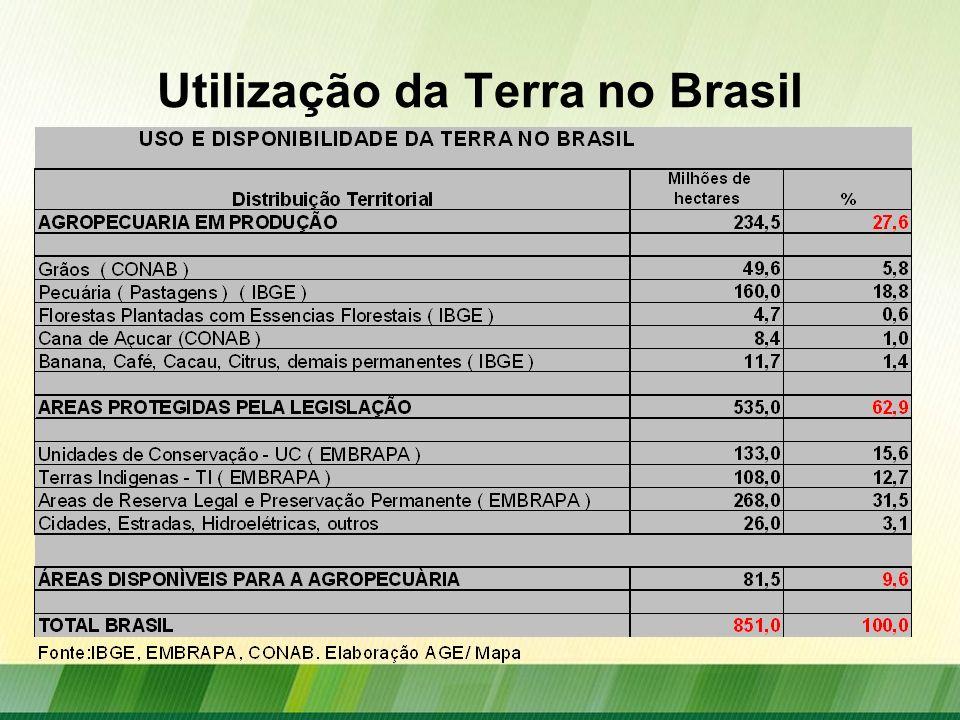 Utilização da Terra no Brasil