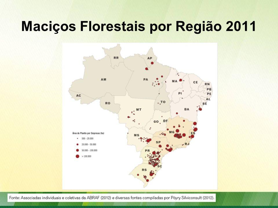 Maciços Florestais por Região 2011