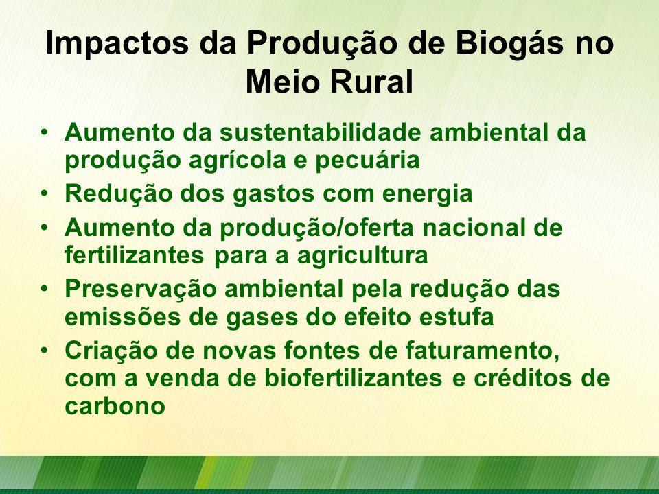 Impactos da Produção de Biogás no Meio Rural