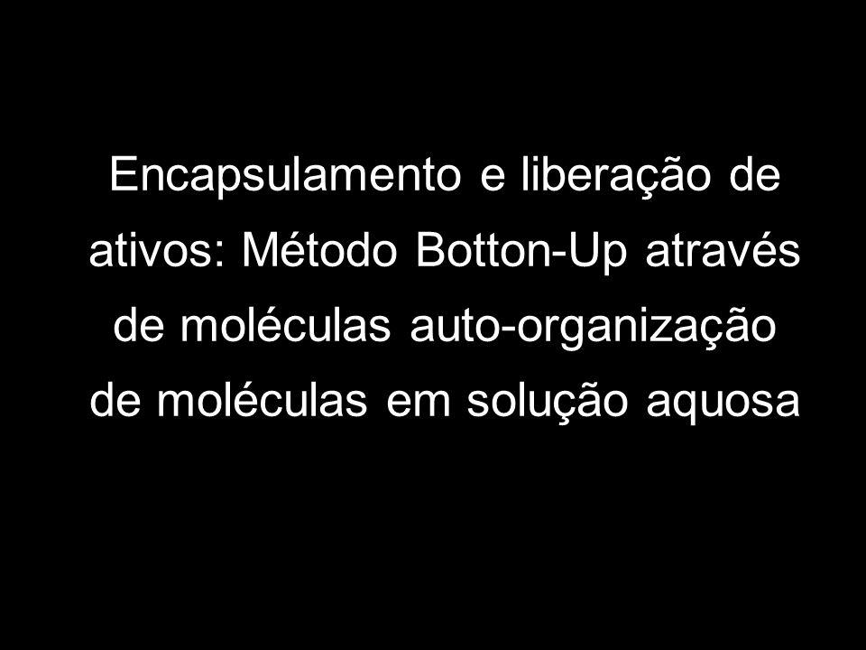 Encapsulamento e liberação de ativos: Método Botton-Up através de moléculas auto-organização de moléculas em solução aquosa