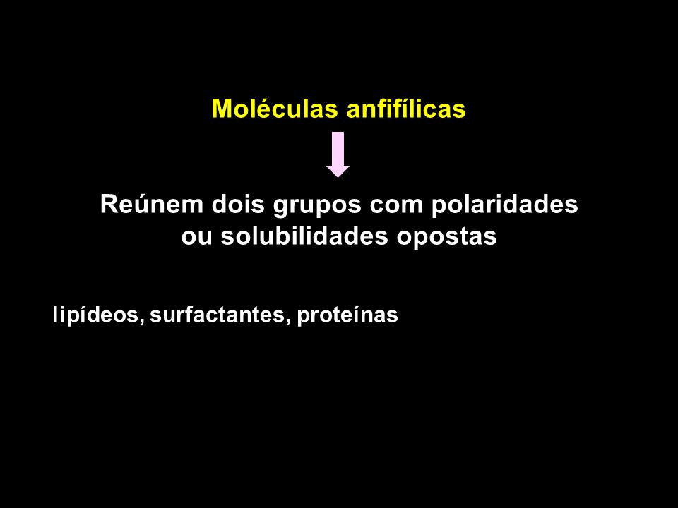 Moléculas anfifílicas
