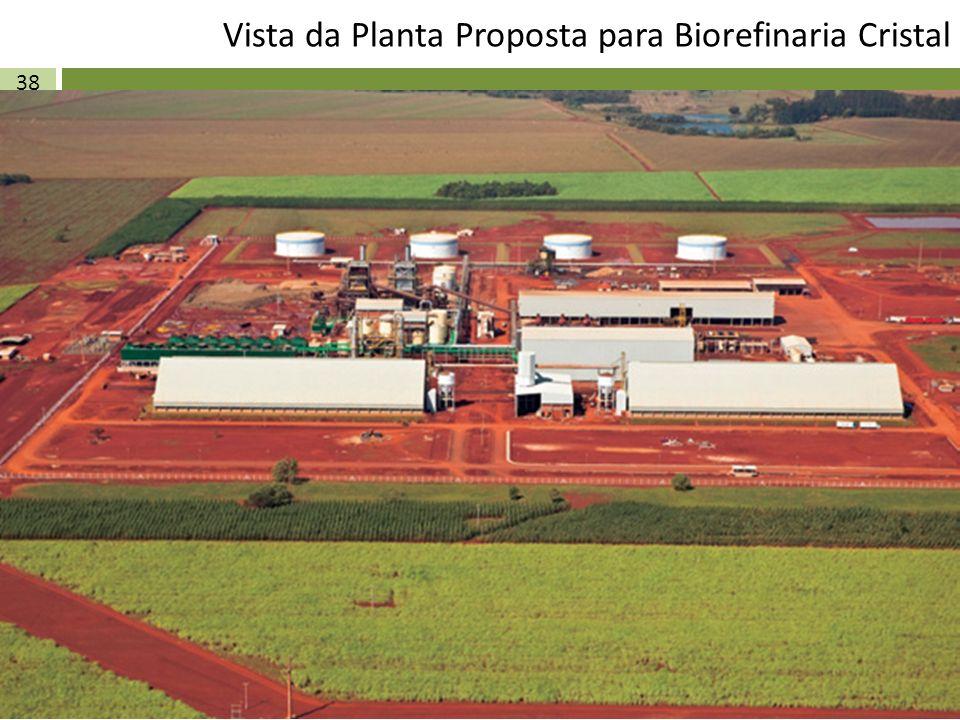 Vista da Planta Proposta para Biorefinaria Cristal