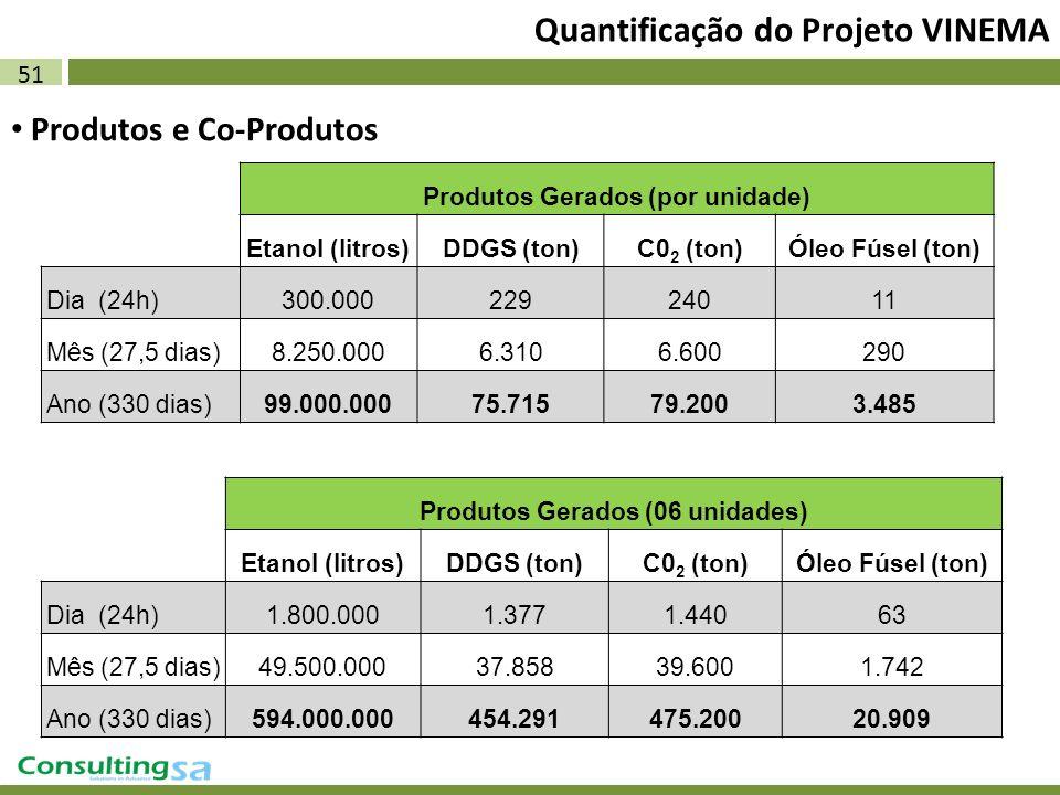 Quantificação do Projeto VINEMA