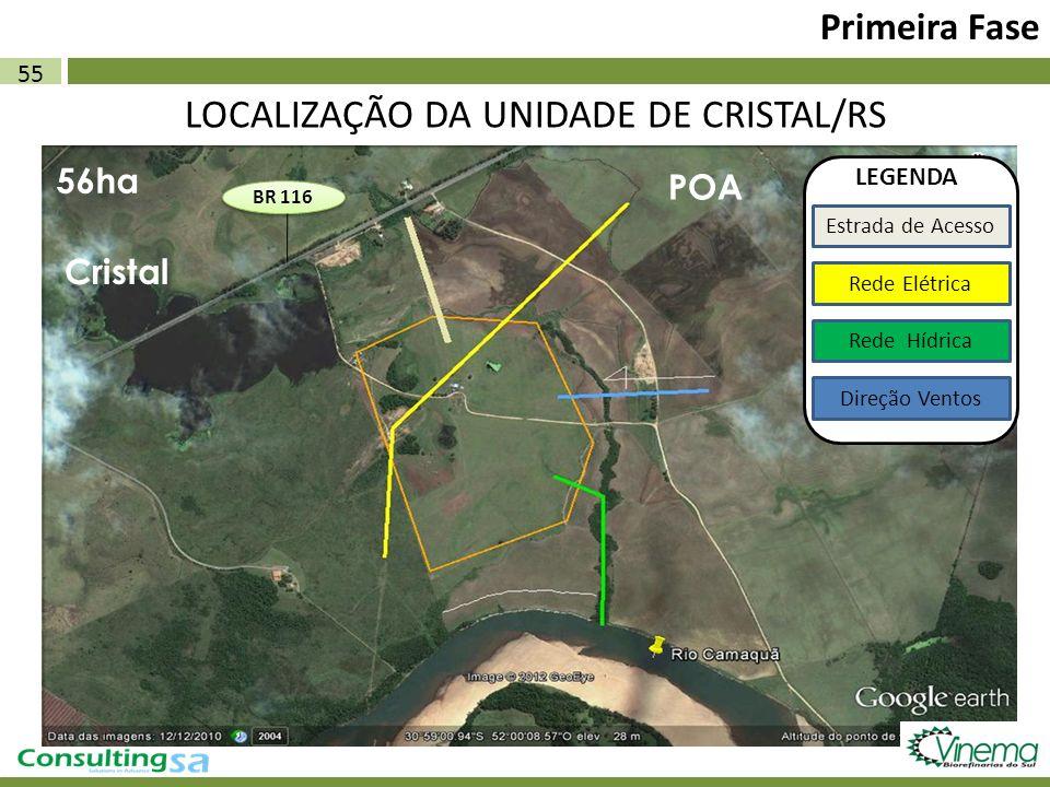LOCALIZAÇÃO DA UNIDADE DE CRISTAL/RS