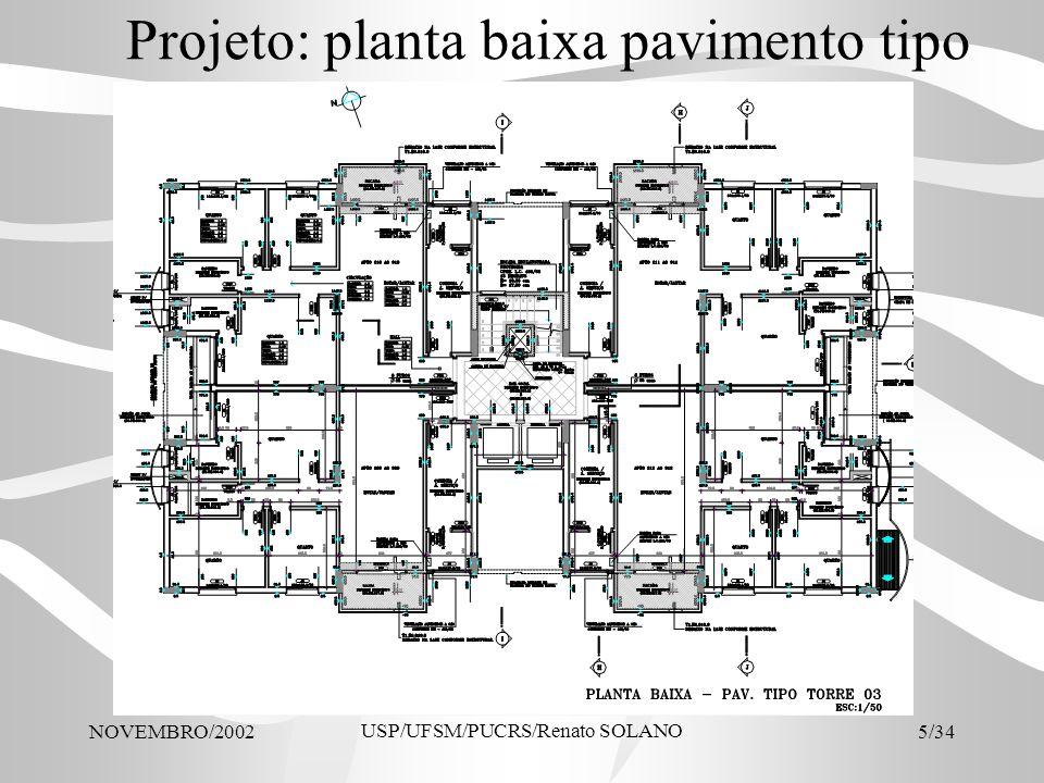 Projeto: planta baixa pavimento tipo