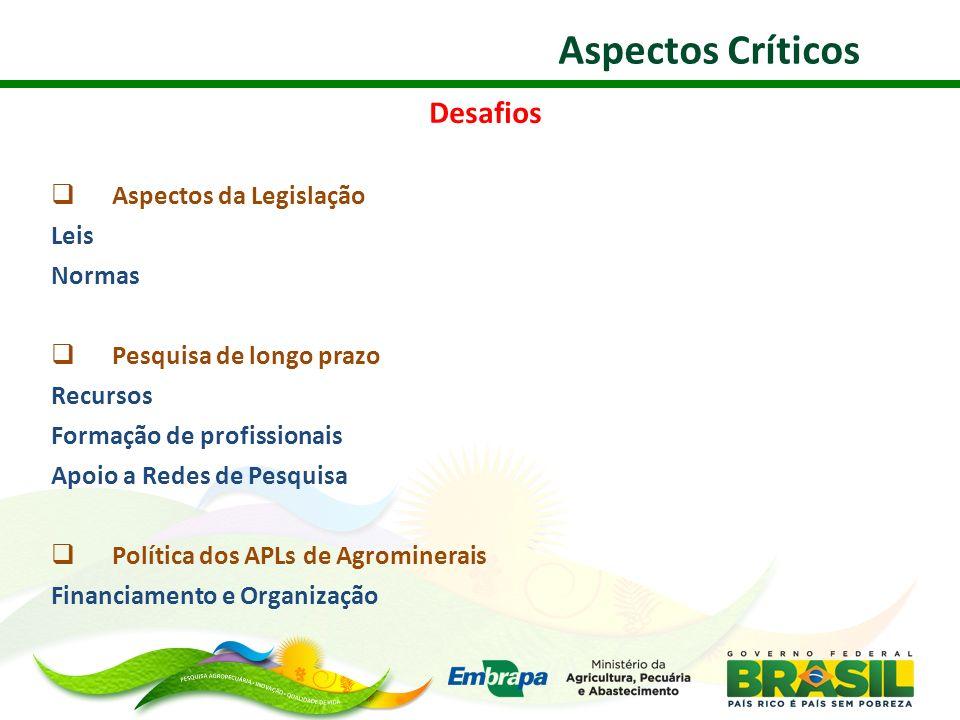 Aspectos Críticos Desafios Aspectos da Legislação Leis Normas
