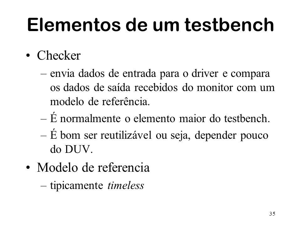 Elementos de um testbench