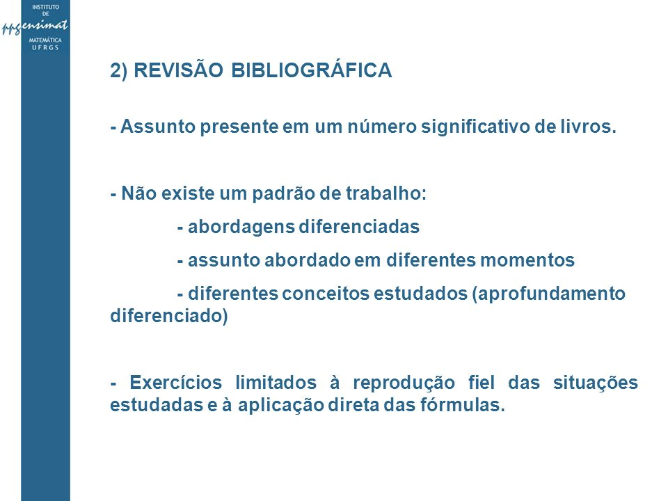 2) REVISÃO BIBLIOGRÁFICA