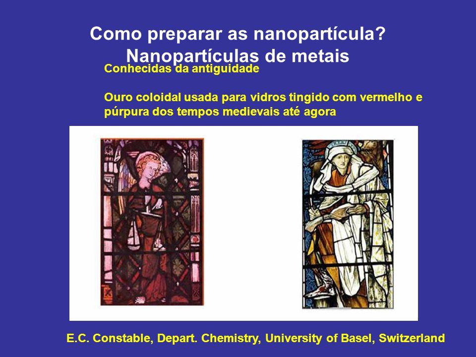 Como preparar as nanopartícula Nanopartículas de metais