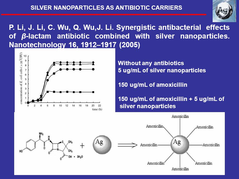 SILVER NANOPARTICLES AS ANTIBIOTIC CARRIERS