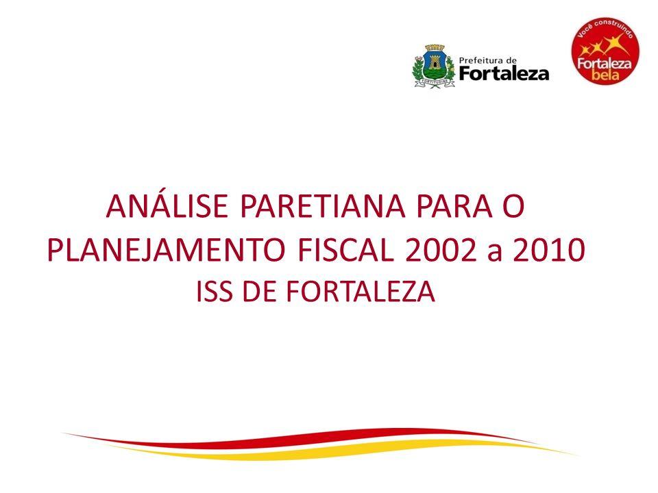 ANÁLISE PARETIANA PARA O PLANEJAMENTO FISCAL 2002 a 2010