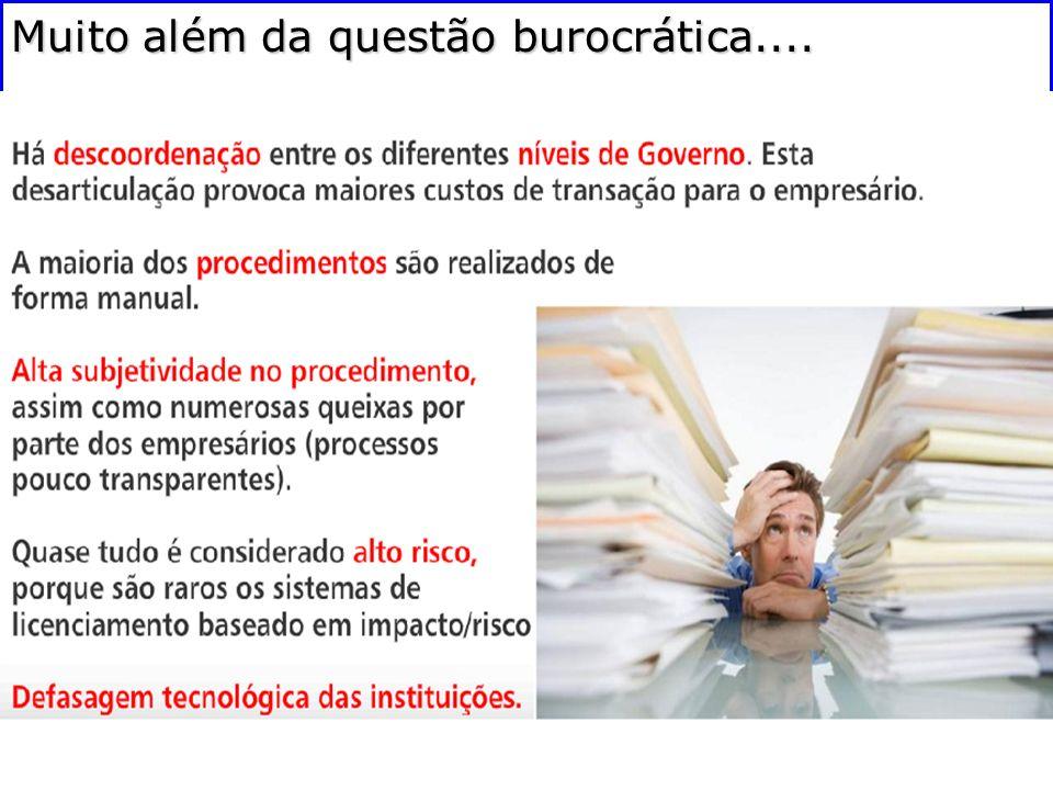 Muito além da questão burocrática....