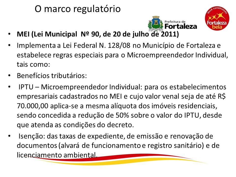 O marco regulatório MEI (Lei Municipal Nº 90, de 20 de julho de 2011)