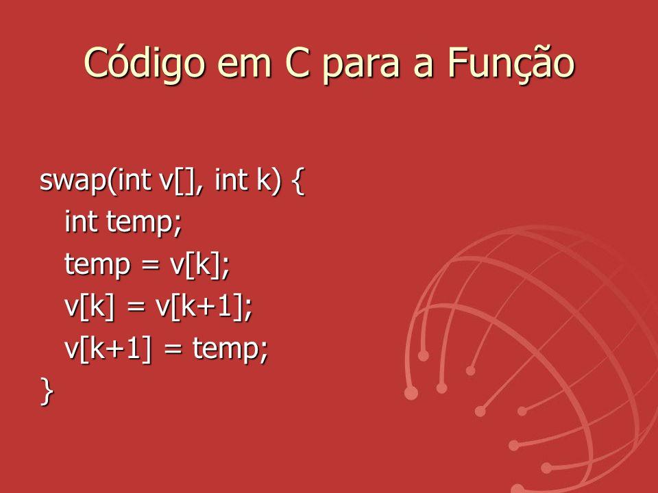 Código em C para a Função