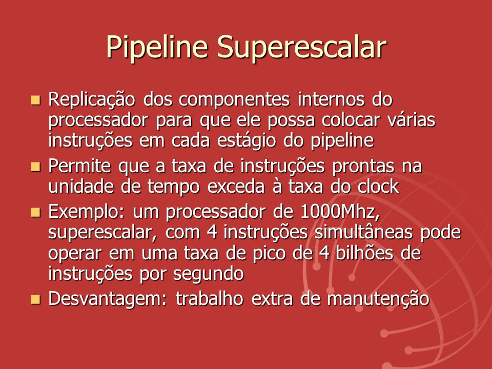 Pipeline Superescalar