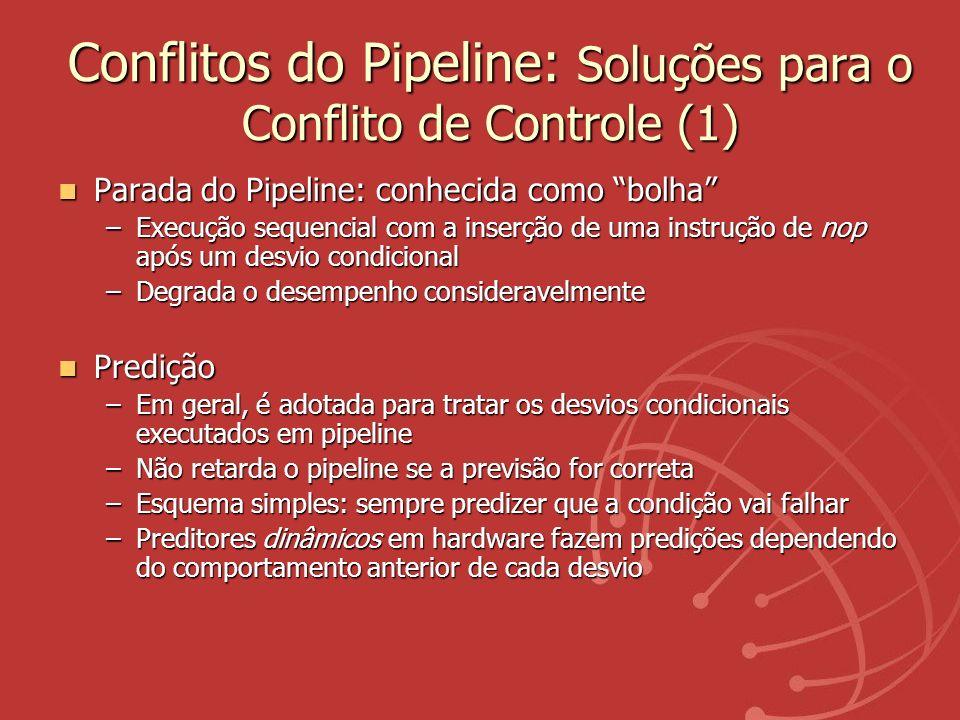 Conflitos do Pipeline: Soluções para o Conflito de Controle (1)