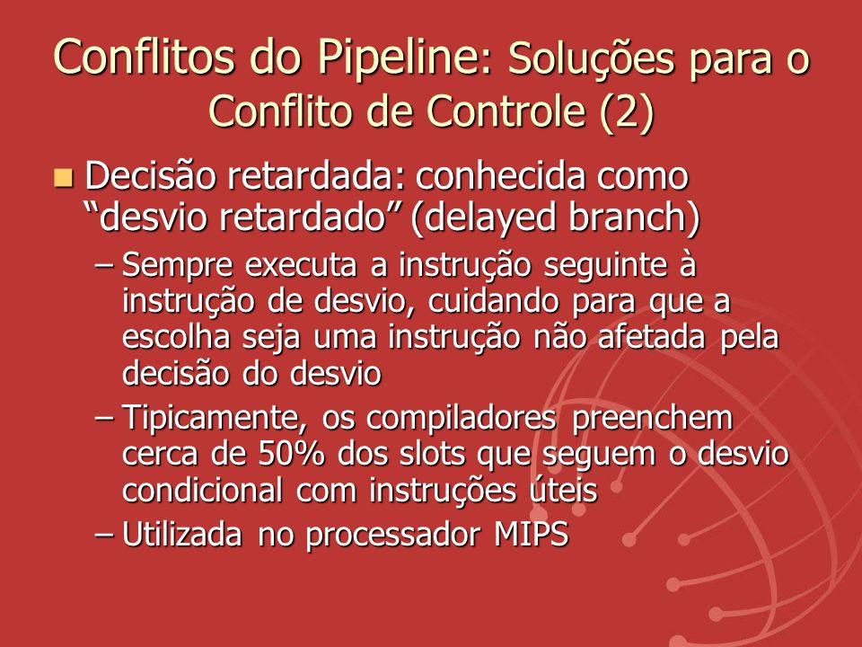 Conflitos do Pipeline: Soluções para o Conflito de Controle (2)