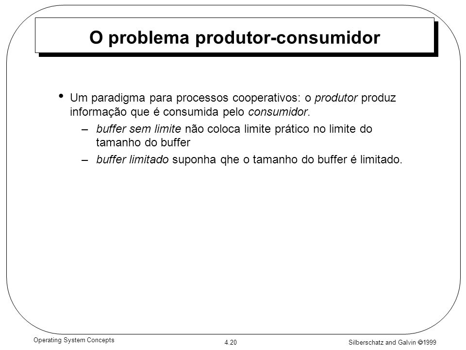 O problema produtor-consumidor