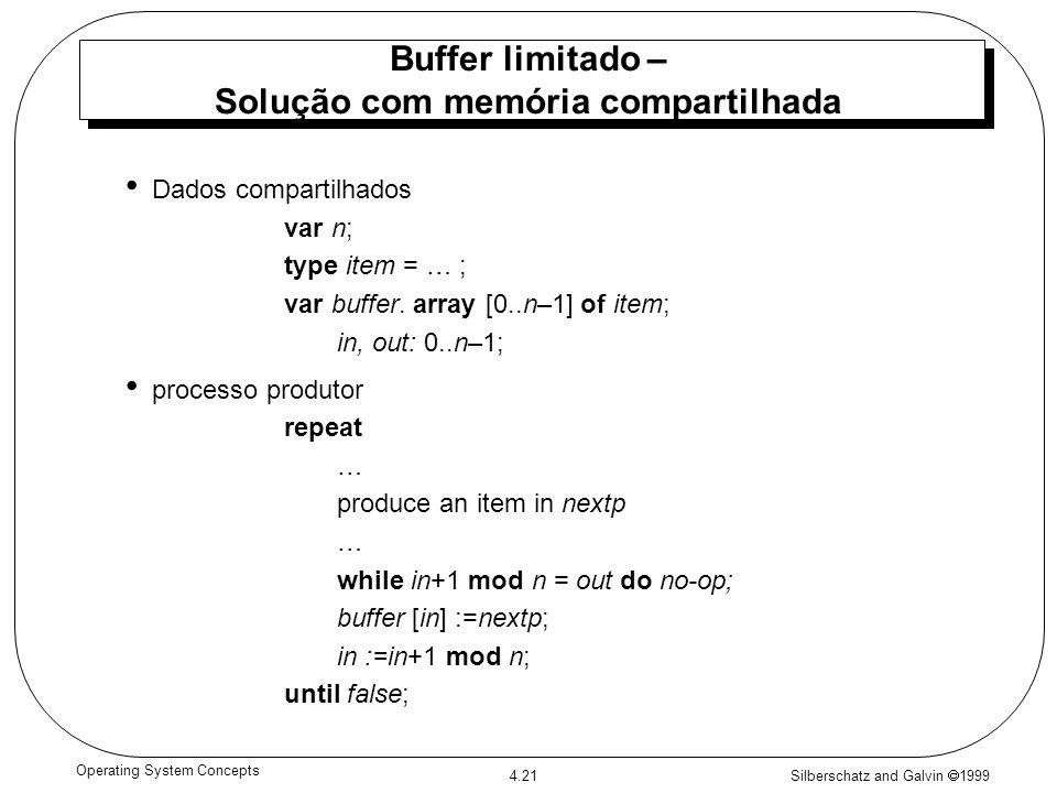 Buffer limitado – Solução com memória compartilhada