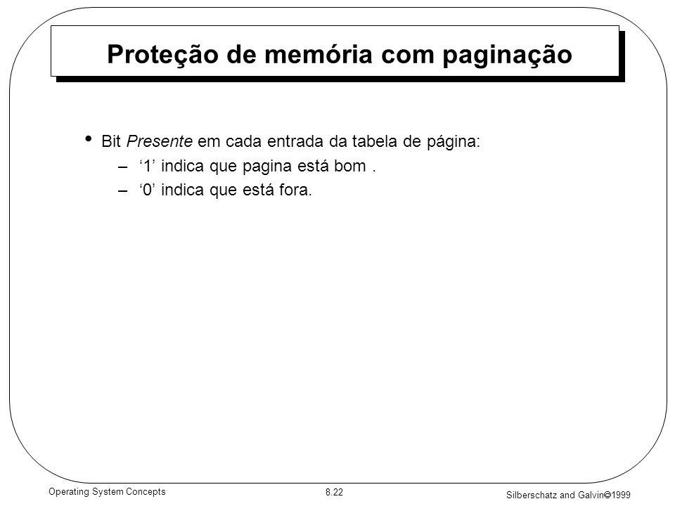 Proteção de memória com paginação