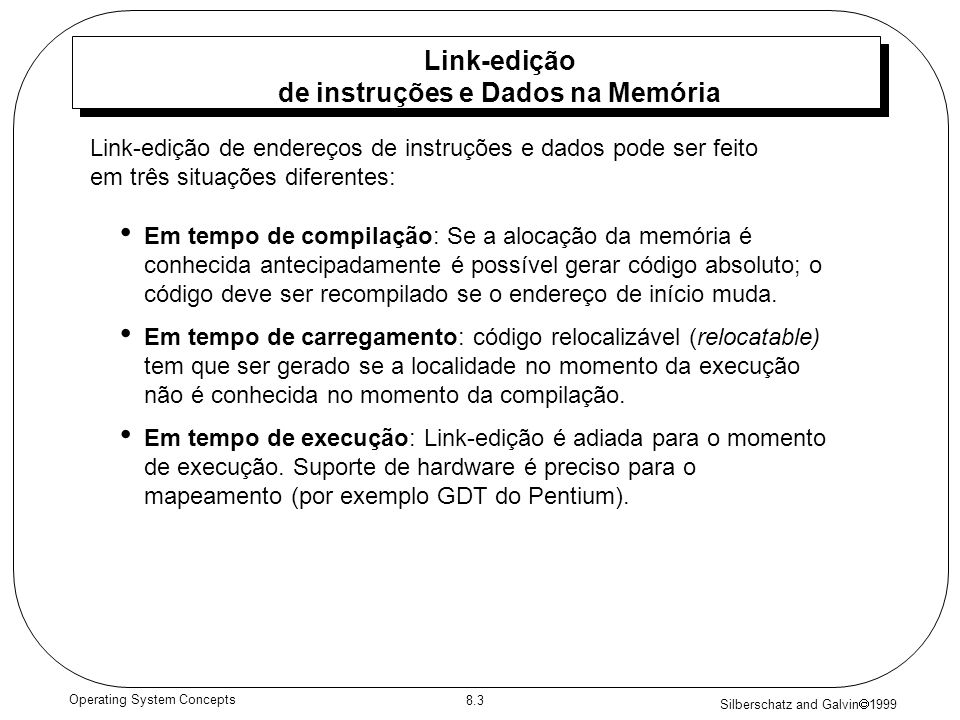 Link-edição de instruções e Dados na Memória