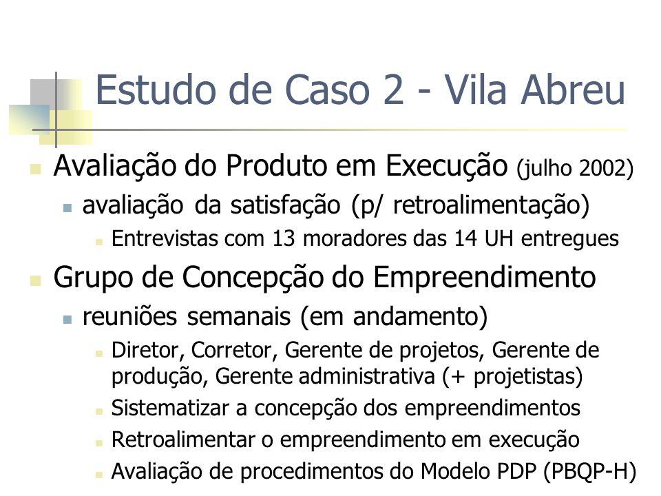 Estudo de Caso 2 - Vila Abreu