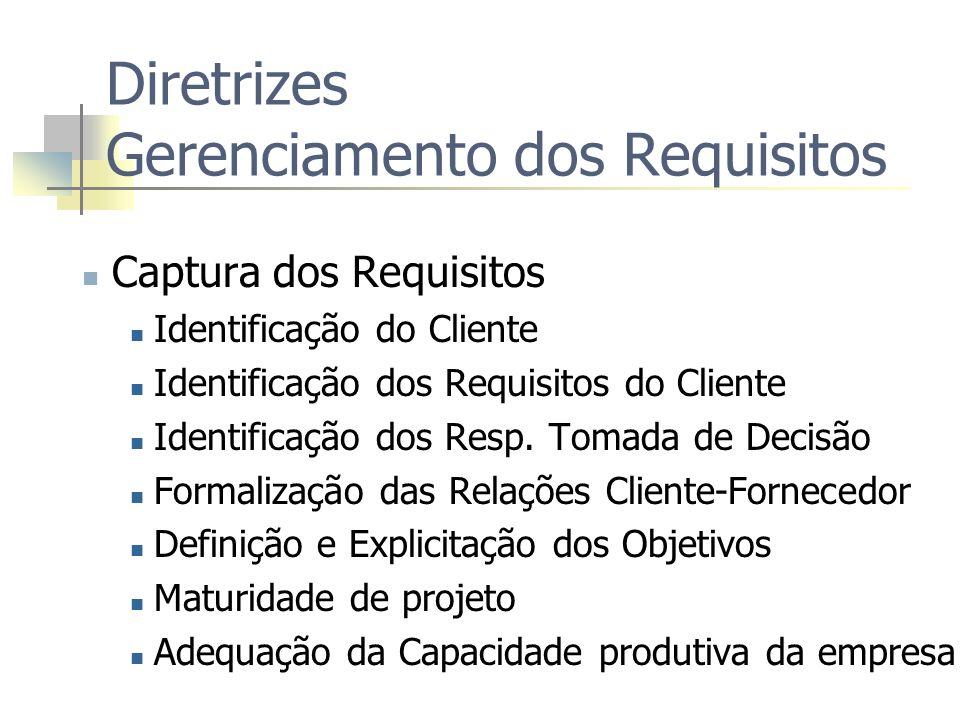 Diretrizes Gerenciamento dos Requisitos